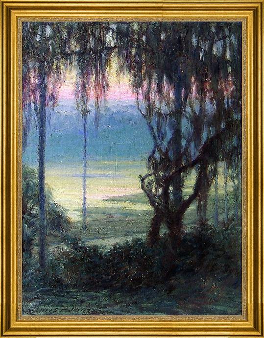 "Art MegaMart John Ottis Adams Twilight Along the Florida Coast - 18"" x 24"" Framed Premium Canvas Print at Sears.com"