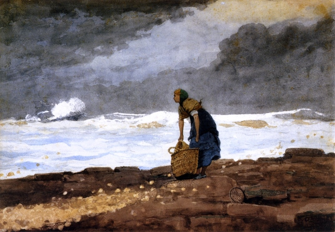 """Art MegaMart Winslow Homer Girl with Red Stockings - 16"""" x 24"""" Premium Archival Print at Sears.com"""