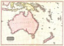1818 Map of Australia and New Zealand, 1818 - Vintage Map Collection