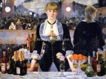 A Bar at the Folies-Bergere - Edouard Manet