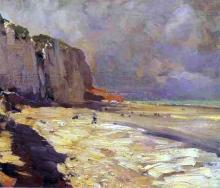 A Beach at Dieppe, Study