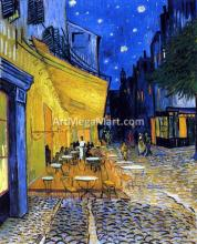 A Cafe Terrace on the Place du Forum (also known as Cafe Terrace at Night) - Vincent Van Gogh