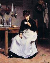 A Cup of Coffee - Victor Gabriel Gilbert