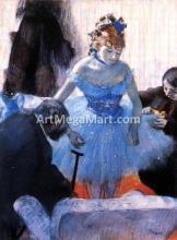 A Dancer's Dressing Room - Edgar Degas