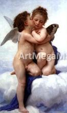 A First Kiss - William Adolphe Bouguereau