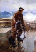 A Fisherman at the Wheel - Augustus Buhler