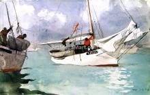 A Fishing Boat, Key West - Winslow Homer