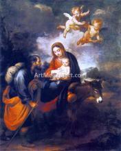 A Flight into Egypt - Bartolome Esteban Murillo