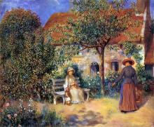 A Garden Scene in Brittany - Pierre Auguste Renoir