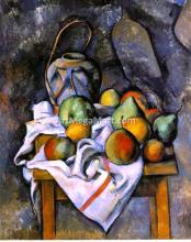 A Ginger Jar and Fruit - Paul Cezanne