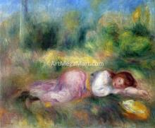 A Girl Streched out on the Grass