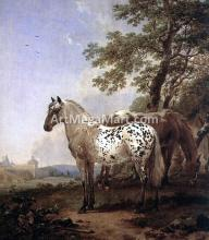 A Landscape with Two Horses
