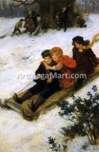 A Merry Sleigh Ride - George Sheridan Knowles