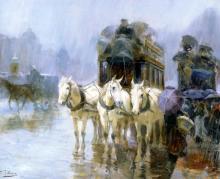 A Rainy Day - Ulpiano Checa Y Sanz