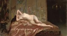 A Reclining Nude - Luis Ricardo Falero