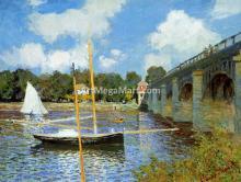 A Road Bridge at Argenteuil - Claude Oscar Monet