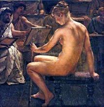 A Roman Studio - Sir Lawrence Alma-Tadema