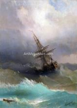 A Ship in the Stormy Sea