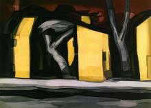 A Situation in Yellow - Oscar Bluemner