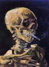 A Skull with Burning Cigarette