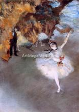 A Star (also known as Dancer on Stage) - Edgar Degas