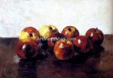 A Still Life of Apples - Lessur Ury