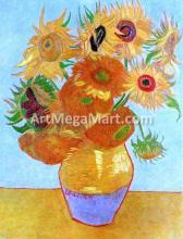 A Still Life: Vase with Twelve Sunflowers