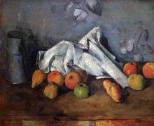 A Still Life with Milk Can and Apples - Paul Cezanne