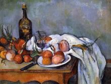 A Still Life with Red Onions - Paul Cezanne