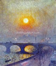 A Sunset over Waterloo Bridge