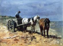 A Team and Pull-cart - Anton Mauve