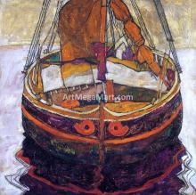 A Trieste Fishing Boat - Egon Schiele