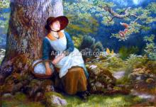 A Woman Asleep in the Woods