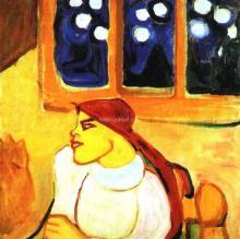 A Woman in a Headscarf - Elena Guro