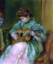 A Woman with a Guitar - Pierre Auguste Renoir