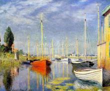 A Yacht at Argenteuil - Claude Oscar Monet