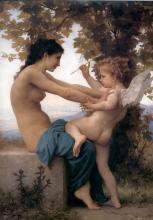 A Young Girld Defending Her Eros - William Adolphe Bouguereau