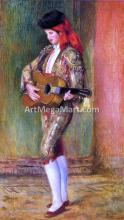 A Young Guitarist Standing - Pierre Auguste Renoir