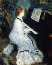 A Young Woman at the Piano - Pierre Auguste Renoir