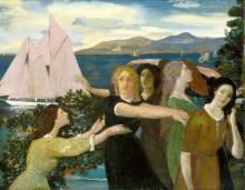 Across the Harbor - Arthur B Davies