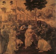 Adoration of the Magi, Florence - Leonardo Da Vinci