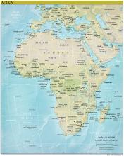 Africa Map - Physical - Map Collection
