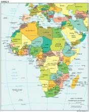 Africa Map - Political - Map Collection