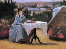 Afternoon Tea (also known as On the Terrace) - Eva Gonzales