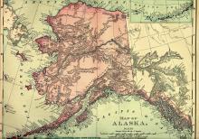 Alaska Map, 1895 - Vintage Map Collection