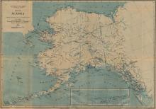 Alaska Stations Map, 1917 - Vintage Map Collection