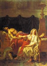 Andromache Mourning Hector - Jacques-Louis David