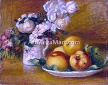Apples and Flowers - Pierre Auguste Renoir