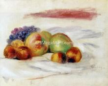 Apples and Grapes - Pierre Auguste Renoir