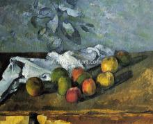 Apples and Napkin - Paul Cezanne